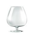 Cognac glass vector image vector image