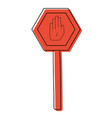 color metal frame notice with stop sign vector image vector image