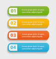 colorful realistic web buttons vector image vector image