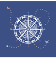 Compass Rose Line Style Design vector image