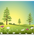 country landscape vector image vector image