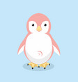 cute penguin pink vector image vector image