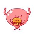 cute sad funny human bladder organ character with vector image vector image