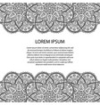 decorative element border abstract invitation vector image