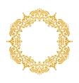 Elegant luxury vintage round gold floral frame vector image vector image