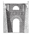 etruscan arch at perugia etruscan buildings vector image vector image