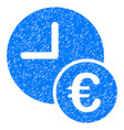 Euro recurring payments grunge icon