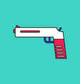 flat icon design collection military pistol vector image vector image