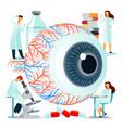 flat large human eye on a vector image