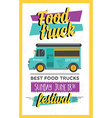 Food truck party invitation Food menu template