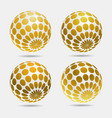 gold decorative balls vector image