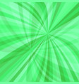 green dynamic background - design from curved ray vector image vector image