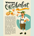 green germany costume oktoberfest man a mustache vector image