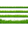 green grass borders set vector image vector image