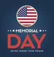 happy memorial day design poster american vector image vector image