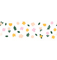 horizontal white banner or floral backdrop vector image vector image