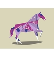 Horse made of euro banknote cartoon vector image vector image