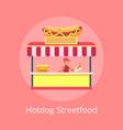 hotdog street food kiosk vector image vector image