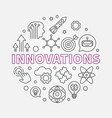 innovations round concept outline vector image