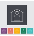 Kennel icon vector image