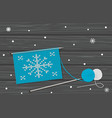 knitting with pattern of snowflake vector image