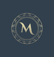 Letters m luxury logo template