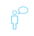 linear message icon person with chat speech vector image vector image