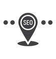 local seo glyph icon seo and development vector image vector image