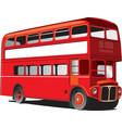 London double decker bus vector image vector image