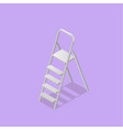 low poly isometric ladder vector image vector image