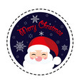 merry christmas santa claus icon flat vector image