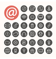 Mobile Interface Icons set eps10 vector image vector image