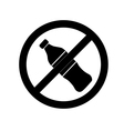 No drink sign vector image vector image