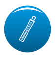 old thermometer icon blue vector image vector image