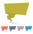 Origami speech bubbles vector image vector image