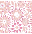 Pink abstract flowers seamless pattern background vector image