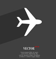 Plane icon symbol Flat modern web design with long vector image
