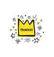 princess cartoon sketch vector image