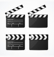 realistic 3d detailed black clapper set vector image vector image