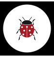 red ladybug animal symbol simple black icon eps10 vector image vector image