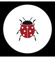Red ladybug animal symbol simple black icon eps10