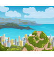 rio de janeiro skyline brazil city landscape vector image
