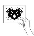 rorschach test coloring book vector image vector image