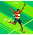 Running Winner 2016 Summer Games 3D Isometric vector image vector image