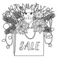 sale coloring page vector image