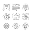 Saving energy thin line icons vector image vector image