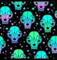 seamless with beautiful cute bright animal skulls vector image vector image