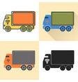 self-driving truck icon set in flat and line vector image vector image