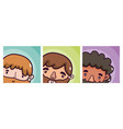 set of mens cartoons vector image vector image