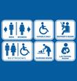 set of restroom nursing room lactation room vector image